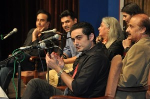 Bilal Lashari applauding in the 'Lights, Camera, Action' session