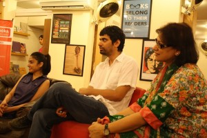 Rahedeen, Omer and Farhat listening to the discussion. Photo credit: Afia Aslam
