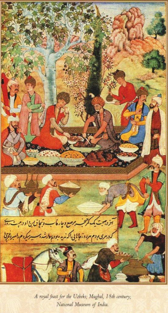 A royal feast for the Uzbeks, Mughal 18th century